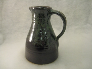 Two tone glazed jug